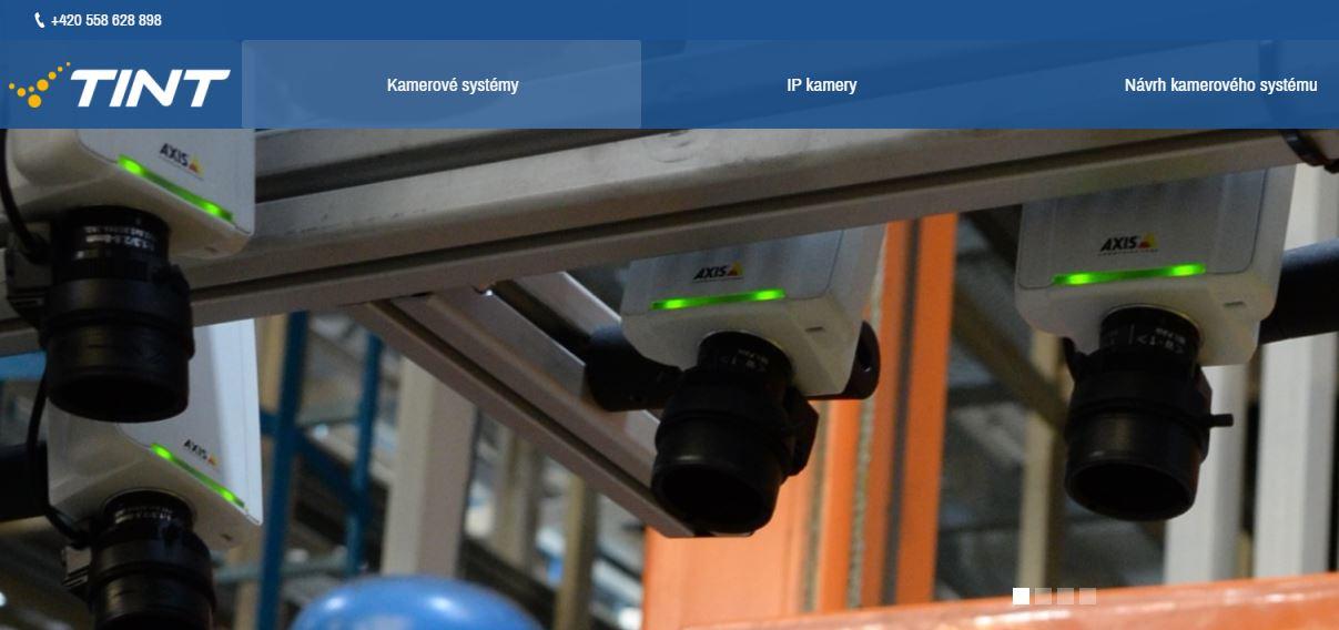 ukázka našeho webu kamerove-systemy-tint.cz